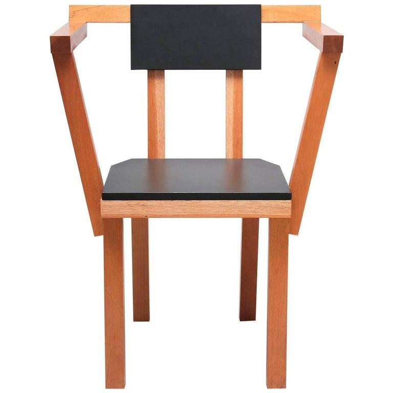 Contemporary Chair Madera Wood Black