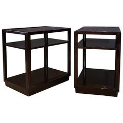 Pair of Edward Wormley for Dunbar Mahogany Three-Tier Side or End Tables, 1950s