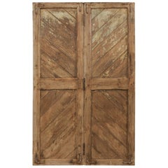 Single Hinged-Pair of European Wood Doors from the Early 20th Century