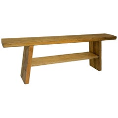 Reclaimed Elm Console Table