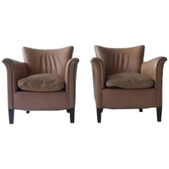 Pair of 1930s Danish Leather Club Chairs
