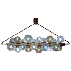 Glustin Luminaires Creation Line Chandelier with Murano Glass Globes