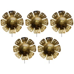 Five Vintage Flower Sconces