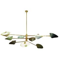 Eight Lights Brass Chandelier Studio Glustin
