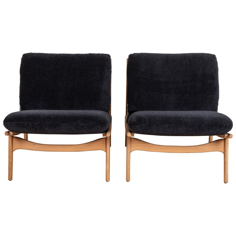 Pair of Maker's Lounge Chairs by Lawson-Fenning For Sale