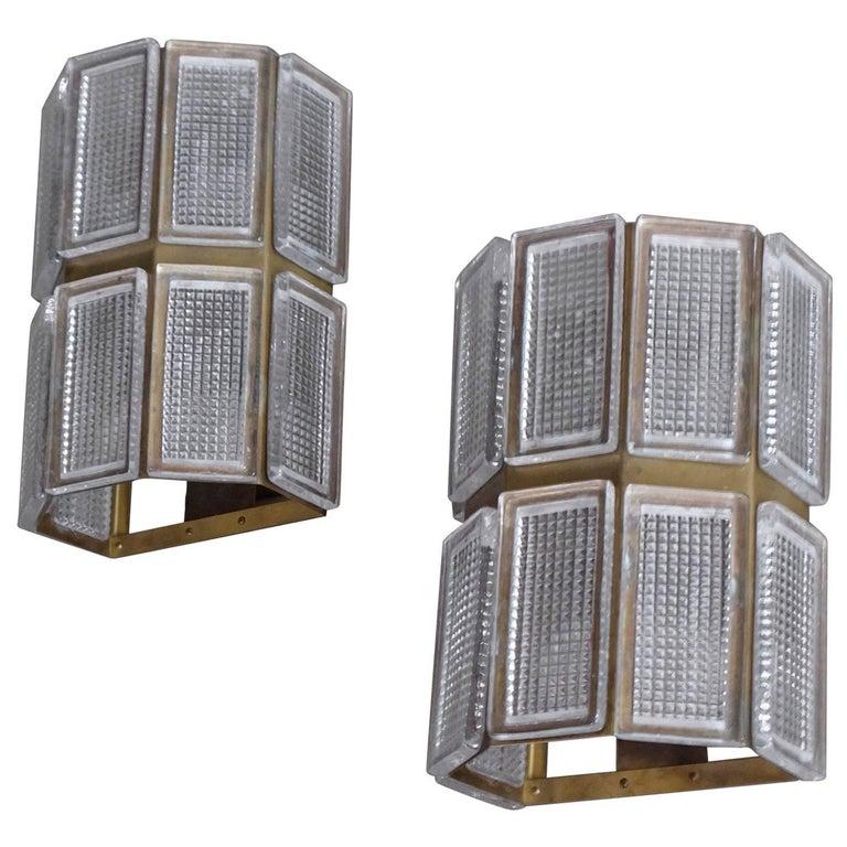 Pair of Swedish Wall Lamps, 1960s