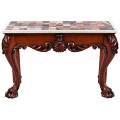 Early 19th Century Irish Mahogany and Specimen Marble Table