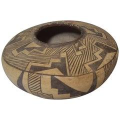 Native American Indian Fine rare Vintage Zuni Pottery Bowl