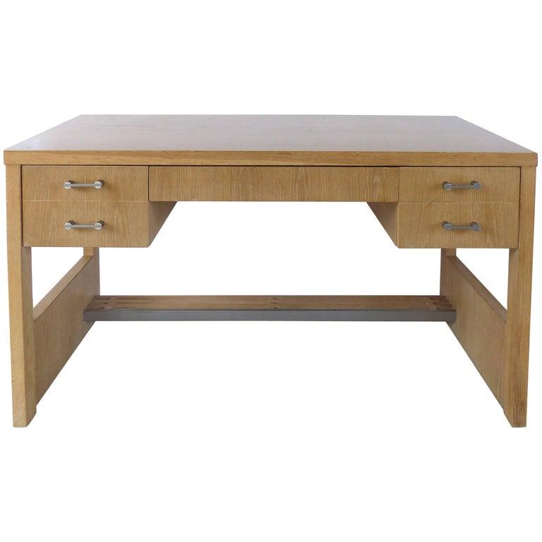 1970s Cerused Oak Desk by Jay Spectre for Century Furniture