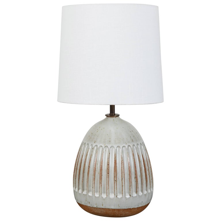 Wide Column Drop Lamp by Mt. Washington Pottery for Lawson-Fenning