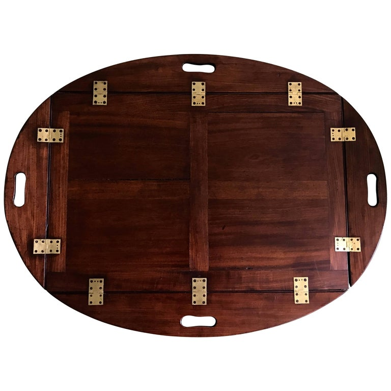George III Butler's Tray in Mahogany, circa 1780 For Sale
