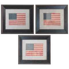 48 Star Oil Cloth Flag on Linen Backing