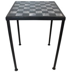 20th Century Marble Gameboard with Custom Frame Stand