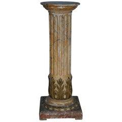 Gustavian Neoclassical 18th Century Pedestal, Origin Sweden, circa 1780