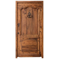 Louis XV Style Walnut Wood Entry Door