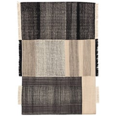Hand-Loomed Tres Rug in Black by Nani Marquina & Elisa Padron, Extra Large