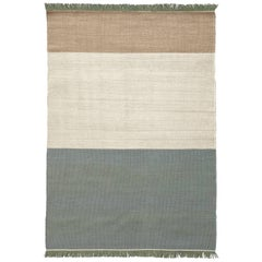 Hand-Loomed Tres Stripes Rug in Sage by Nani Marquina & Elisa Padro, Large