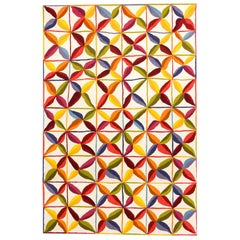 Hand-Tufted Kala Square Rug in Orange & Red by Nani Marquina & Care & Fair, Larg