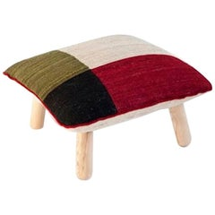 Hand-Loomed Me´lange Pouf Color 1 by Nanimarquina