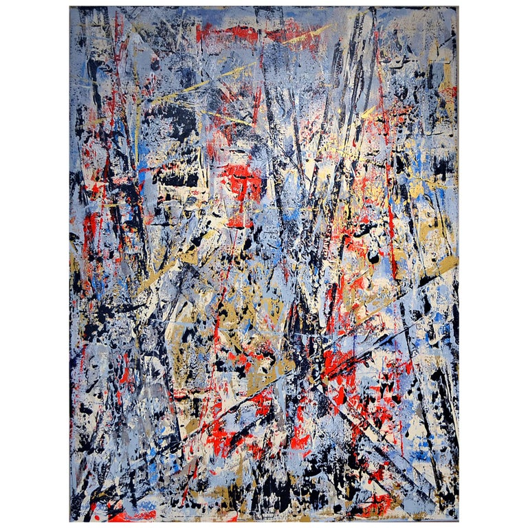 "Abstract Expressionist Painting ""A Toast to New Life Past"" by Aaron Finkbiner For Sale"