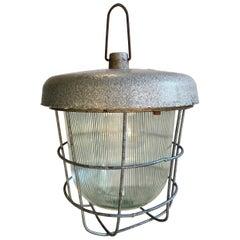 Vintage Factory Hanging Lamp, 1960s