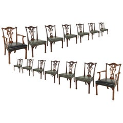 14 Chippendale Style 19th Century Dining Chair by Morant & Co.