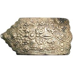 Ancient Byzantine Silvered Reliquary Belt Buckle Crusader Period 12th Century AD