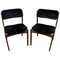 Pair of Danish Modern Erik Buch for O.D. Møbler Teak Dining Chairs