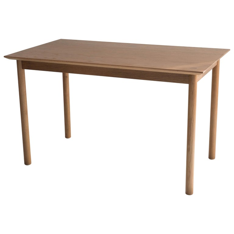 Coast Table by Sun at Six, Sienna, Minimalist Dining Table or Desk in Wood For Sale