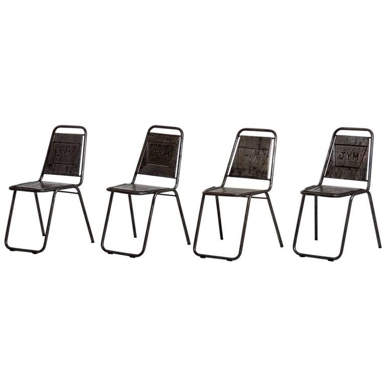 Four Early 20th Century French Cafe Chairs
