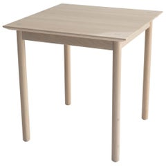 Coast Table Square by Sun at Six, Nude Minimalist Dining Table or Desk in Wood