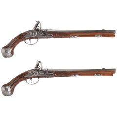 Pair of Flintlock Pistols by 'Oger Leblan'