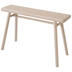 Wing Stand by Sun at Six, Nude: Minimalist Stool / Bench / Side Table in Wood