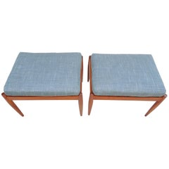 Pair of Danish Stools by Kai Kristiansen for Magnus Olesen