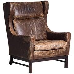 1960s Danish Design Wingback Armchair