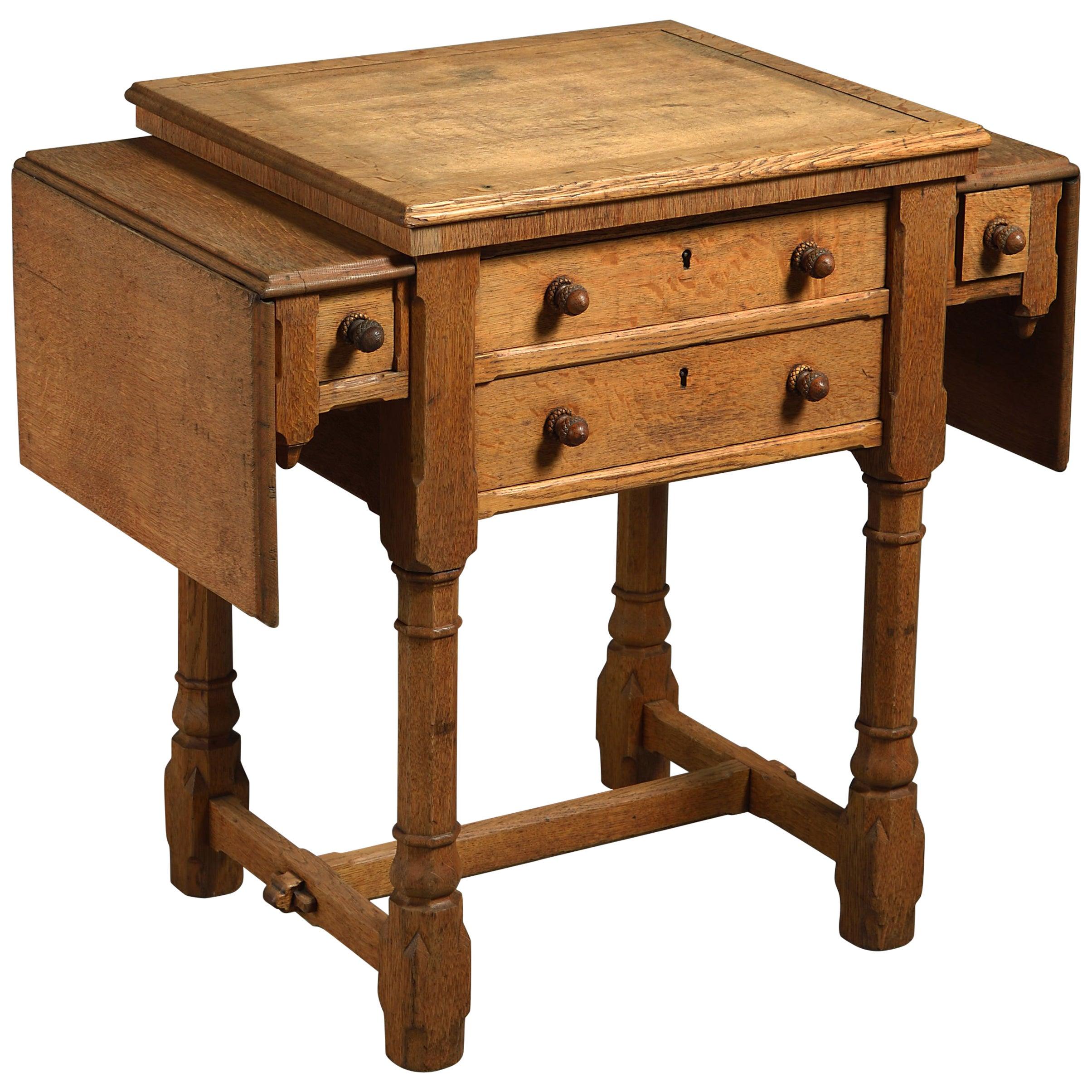 19th Century Gillows Metamorphic Oak Work Table
