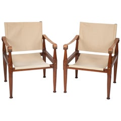 Pair of Campaign Chairs in the Manner of Karre Klint