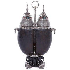 19th Century Anglo-Indian Coco de Mer Tea Caddy