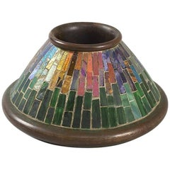 Tiffany Studios New York Art Nouveau Mosaic Match Holder