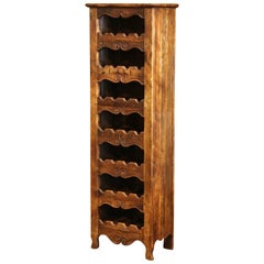 "Louis XV Carved Twenty-Eight Wine Bottle Holder Cabinet with ""Cave Bordeaux"""