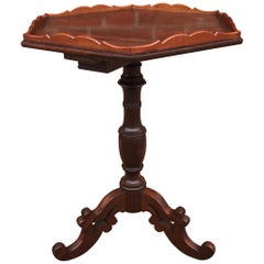 Amazing & Stylish Wine Table or End Table with Hexagonal Top on Tripod  Base