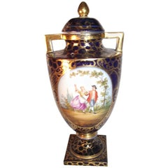 Royal Vienna Hand-Painted Urn Bee Hive Mark
