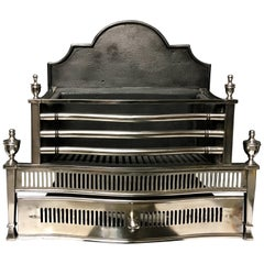 Large Steel and Iron Antique Georgian Style Fire Grate