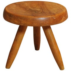 Charlotte Perriand Solid Elm Stool, 1953