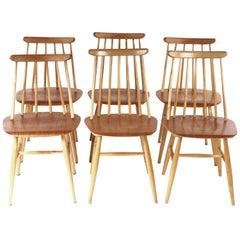 Swedish Fanett Dining Chairs by Ilmari Tapiovaara, 1950s