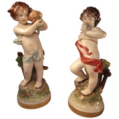Oldest Volkstedt Porcelain Factory Marked Figurines