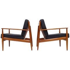 Grete Jalk Lounge-Chairs for France & Daverkosen, Denmark