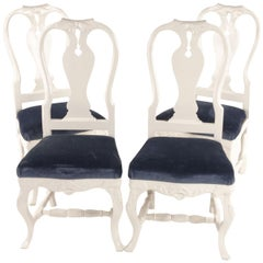 """Bondrokoko"" Chairs from Early 1900s Sweden in Painted Birch"