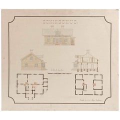 Original Architectural Drawing from Sweden, 1911