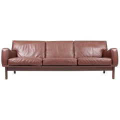 Sofa in Patinated Leather by Eran